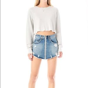 LF Carmar Beatrice Adige Zip Front Denim Skirt